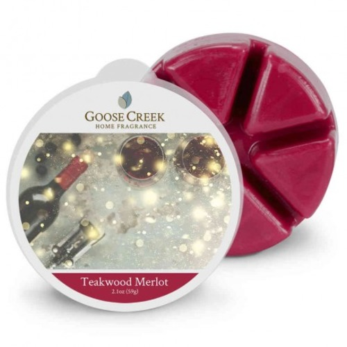 Goose Creek Candle Waxmelt Teakwood Merlot