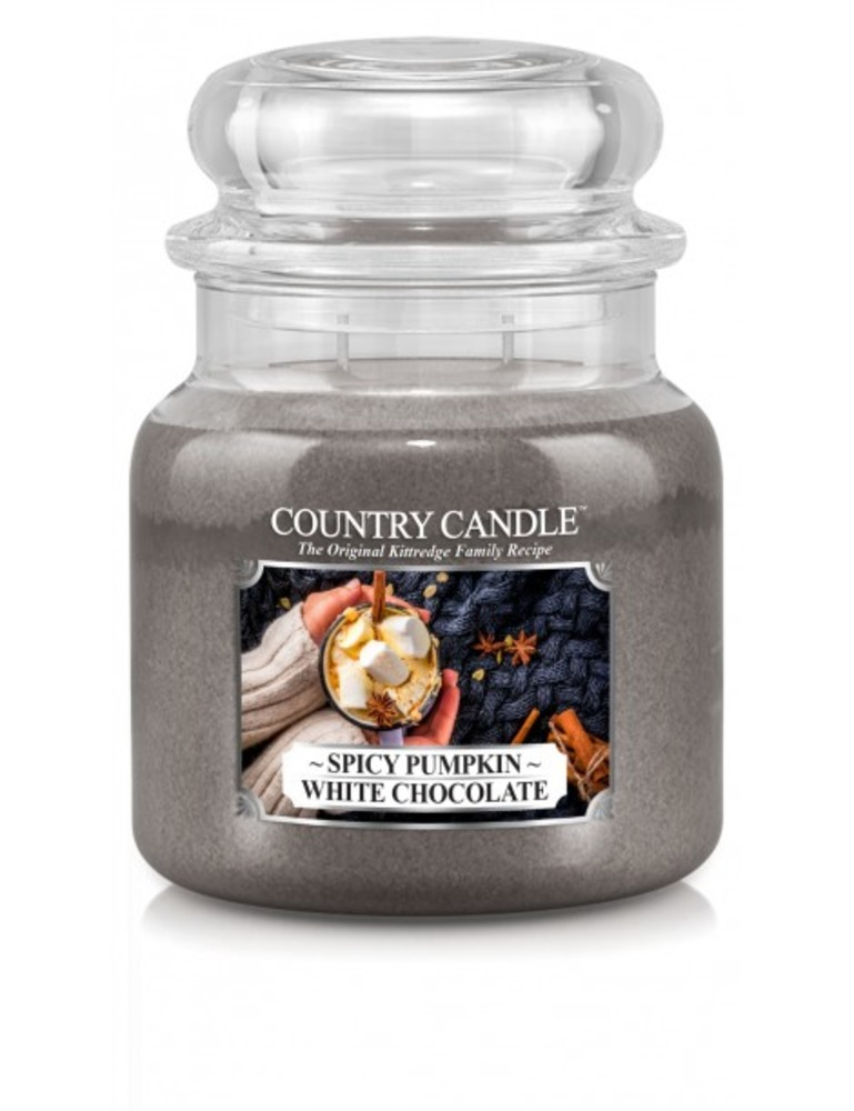 Country Candle Giara media Spicy Pumpkin White Chocolate
