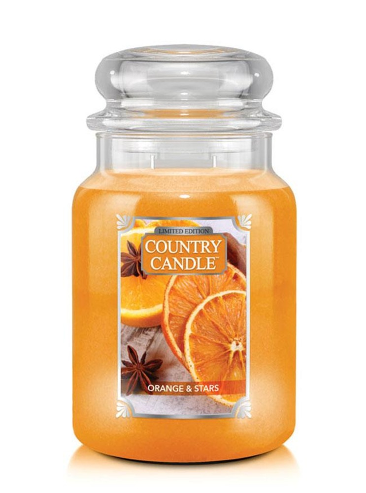 Country Candle Giara grande Orange & Stars Limited Edition