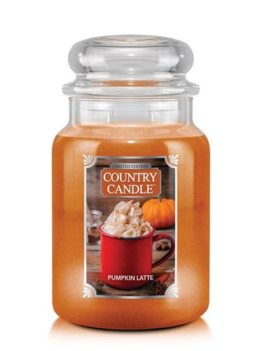 Country Candle Giara grande Pumpkin Latte Limited Edition