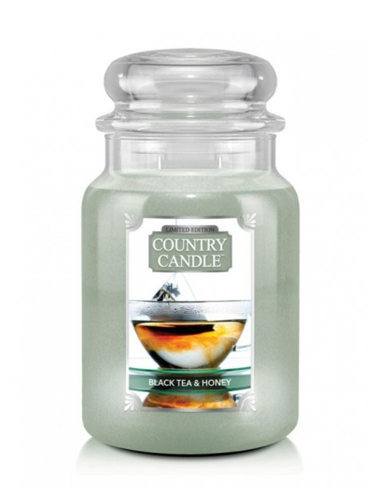 Country Candle Giara grande Black Tea & Honey Limited Edition