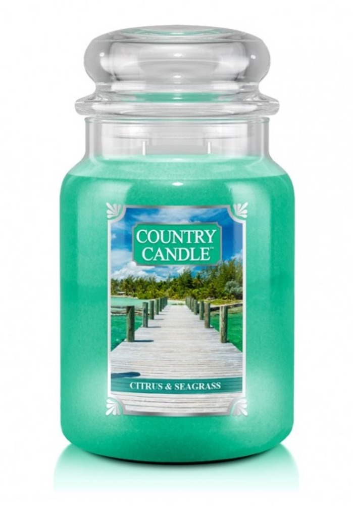 Country Candle Giara grande Citrus & Seagrass
