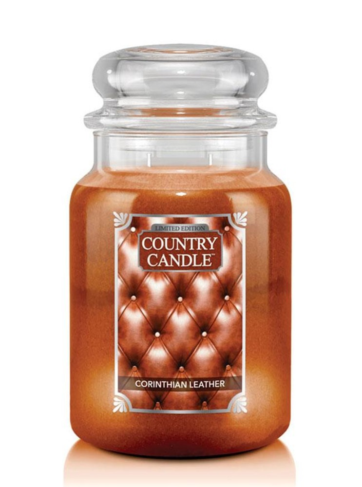 Country Candle Giara grande Corinthian Leather Limited Edition