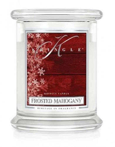 Kringle Candle Giara media Frosted Mahogany
