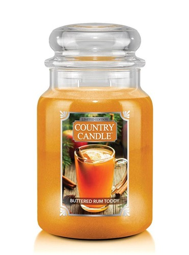 Country Candle Giara grande Buttered Rum Toddy Limited Edition