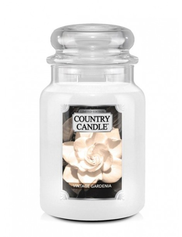 Country Candle Giara grande Vintage Gardenia Limited Edition