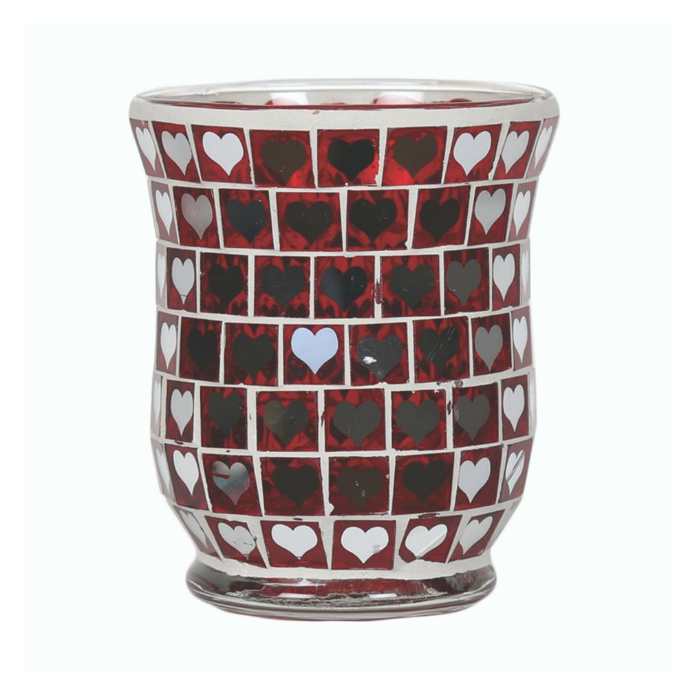 Red Heart Mirror Porta Votivo e Daylight