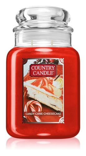 Country Candle Giara grande Candy Cane Cheesecake